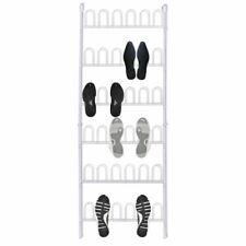vidaXL Shoe Rack for 18 Pairs of Shoes White Steel Storage Organiser Shelf