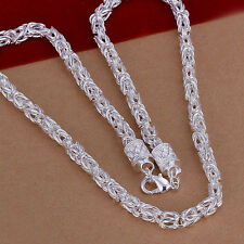 "Free Shipping Sterling Solid Silver Fashion 5mm*20"" Men's Chain Necklace N048"