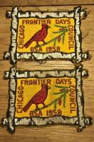 Lot of 2 Vintage Boy Scout (BSA) 1958 Frontier Days Patches