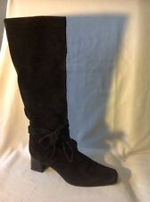 Russell&Bromley Black Knee High Suede Boots Size 40.5