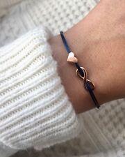 filigranes Armband Infinity Herz roségold Unendlichkeit Liebe