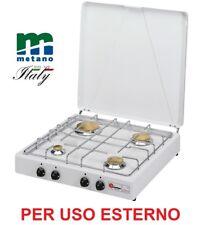 FORNELLO PARKER 4 FUOCHI METANO (GAS DI CITTA') - GRIGLIA CROMATA - USO ESTERNO