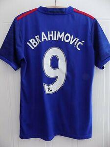 Manchester United Football Shirt Soccer Jersey 2016 IBRAHIMOVIC 9 Adidas FC Mens