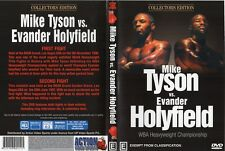 EVANDER HOLYFIELD Vs MIKE TYSON 1ST & 2ND FIGHTS BOXING DVD - ON SPECIAL