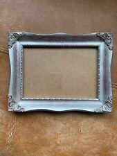 Beautiful Silver Miniature Photo Picture Frame Rococo Baroque Style 5 X 7