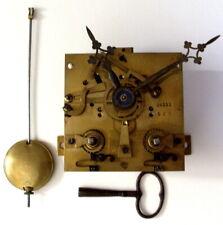XIX S, Mouvement Pendule Régulateur Cartel Oeil de boeuf balancier fonctionne