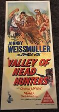 VALLEY OF HEAD HUNTERS Aust daybill '53 art of Johnny Weismuller