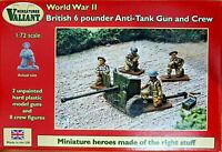 British 6 pounder Anti-Tank Gun and Crem 8 figurini Valiant Miniatures Kits 1:72