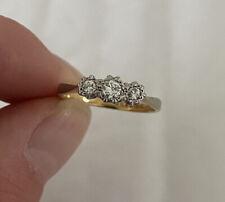 Stone Vintage Ring H.G&S 18K 750. 18ct Gold & Platinum Diamond Three