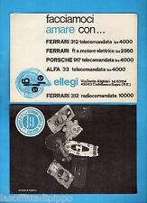 TOP970-PUBBLICITA'/ADVERTISING-1970- ELLEGI - FERRARI 312/PORSCHE 917/ALFA 33