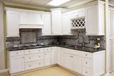 10 x 10 Kitchen Cabinets (Shaker White-SLAB) ASSEMBLED