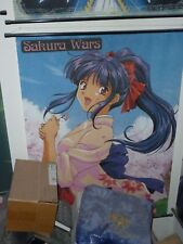 Anime Sakura Wars wall scroll Shinguji Sakura in very good condition 40 and 1/2
