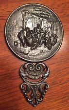 Vintage Spritzer & Fuhrmann Hand Mirror Pocket Purse - Cracker Barrel Scene 297