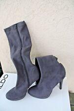 NEW!  Women's Aldo Platform Pump Tall Boots, Grey Suede-like Gunnilla 9  ($120)