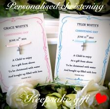 Godparent gift keepsake card personalised godmother or godfather cards,godchild