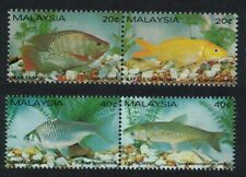 Malaysia Freshwater Fish 4v in pairs MNH SG#260-263