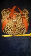 MICHAEL KORS KHAKI SIGNATURE MEDIUM MK BEDFORD LEATHER SATCHEL BOWLING BAG