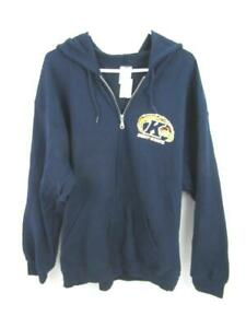 Kent State Blue Jacket Full Zip Hooded Men's Size XL NWT Pockets Gildan