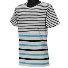 Oakley PRIMARY CREW STRIPE 3 T-Shirt Size M Medium White Blue Mens Cotton Tee