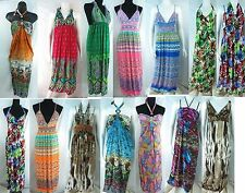 US SELLER-wholesale 12 Boho retro women's fashion maxi dresses short sundresses