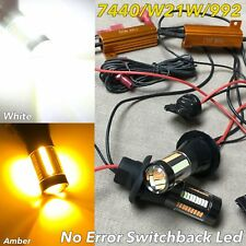 NO ERROR Switchback 66 LED Rear Turn Signal WHITE AMBER T20 7440 W21W 992 W1 JA