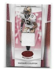 MARQUES COLSTON 2007 DONRUSS LEAF CERTIFIED RED MIRROR GAME USED JERSEY#/100