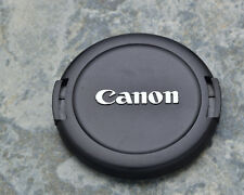 Genuine Canon EOS E 52mm Snap-On Front Lens Cap Chrome Logo 50mm 1.8 (#1447)