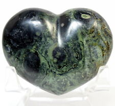 5.8cm 85g Kambaba Diaspro Puffy Cuore Verde Nero Coccodrillo Eye Cristallo