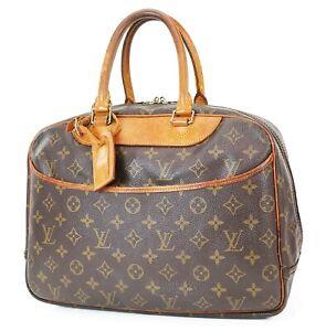 Authentic LOUIS VUITTON Deauville Monogram Hand Bag Purse #37828