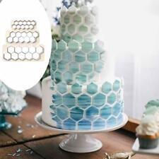 3X Hexagon Fondant Ausstecher Kuchen Keks Form Fondant Decor Backenwerkzeug K1H3