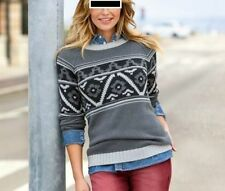 Damen-Pullover & -Strickware mit Norweger-Muster in Langgröße