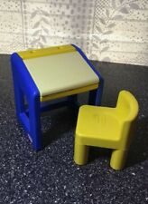 Vintage Little Tikes Dollhouse Tracing Desk With Chair