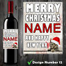 Personalised Wine Champagne Bottle Label Christmas Gift Cat Sister Aunt Mum Her