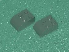 Lego ferrocarril 10020/10022/10025 2 trozo altgraue semicircular piedras 2x3,! nuevo!