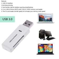 2 in 1 USB 3.0 Memory Card Reader SD SDHC SDXC Micro SD Micro SDXC UHS-I TF LED