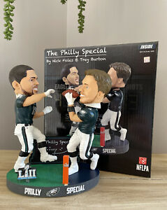 Burton to Foles PHILLY SPECIAL Philadelphia Eagles SUPER BOWL LII Bobblehead NIB