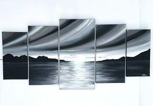 LAGASSE ART GALLERY BOGART NOIR SUNSET   ARTWORK ACRYLIC ON CANVAS PAINTING