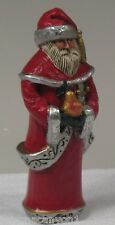 Pam Schifferl Santa with a Pear Figurine Midwest Excellent Condition