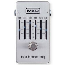 Dunlop MXR M109S Six Band EQ Graphic Equalizer Guitar Effects Pedal, Silver