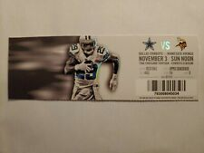11/3/2013 Minnesota Vikings at Dallas Cowboys Full Ticket Stub Tony Romo 337 Yds