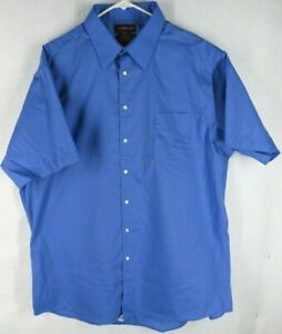 Covington - Men's XL, Blue, Button-up, wrinkle-free, dress shirt, gently used