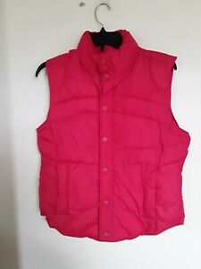 Womens Tommy Hilfiger Pink  Puffy Quilted Vest Size L