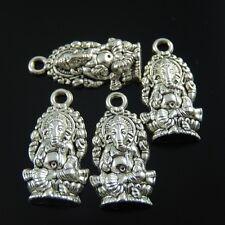 20pcs Weinlese-Silber-Legierung Elefant Buddha-Anhänger-Charme 39058