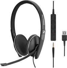 Sennheiser SC 165 USB, 3,5-mm-Klinke Großartiger Klang, HD-Stereo-Sound BRANDNEU