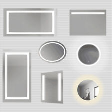 LED Illuminated Bathroom Mirror With Light Touch Wall mounted Demister 500-1200