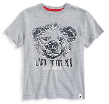 Lucky Brand Boy's  'Land of the Sun' Graphic T-Shirt,Gray. Size 5