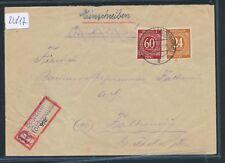 22817) DDR Landpost Ra2 10 Scharfenstein Zschopautal auuf RZ, Reco-Brf 1946