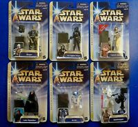 LOT OF 6 ~ STAR WARS ACTION FIGURES Yavin Tie Fighter, Dengar, R2-D2, LUKE ~ NEW