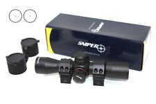 Sniper 1X25 Red Green Dot Sight Scope Style 1'' Picatinny Mount + Flip Up Caps