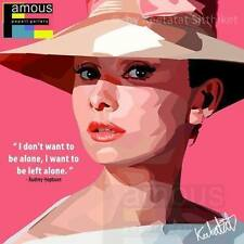 Audrey Hepburn ❤️ POP ART canvas quotes wall decal photo painting framed poster